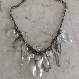 Jewelry - Crystal & Silver Statement Necklace